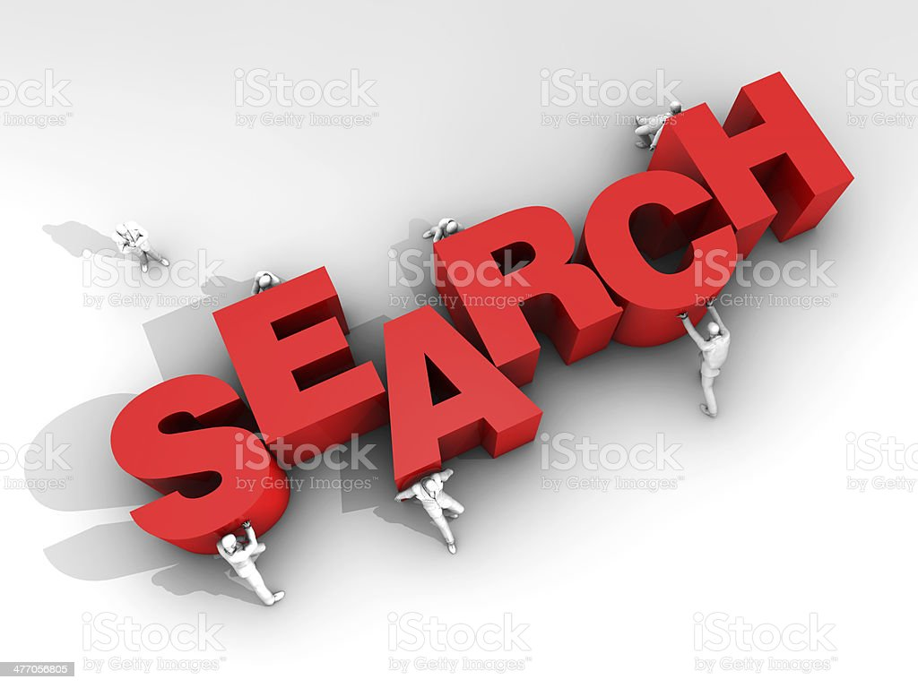 Teamwork and Word Search stock photo