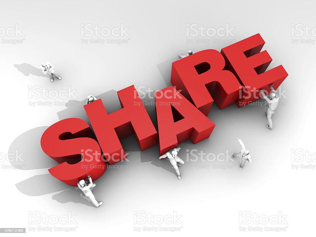 Teamwork and Word Share stock photo