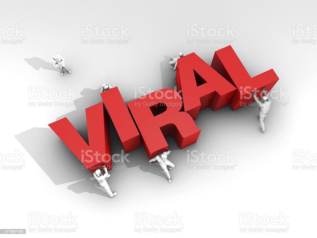 Teamwork and Word Viral Media stock photo