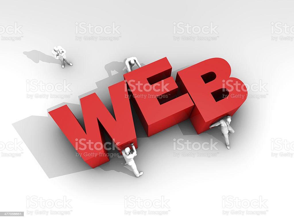 Teamwork and Word Web stock photo