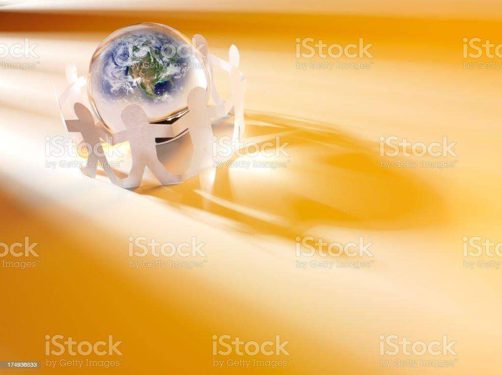 Teamwork Around the Globe royalty-free stock photo