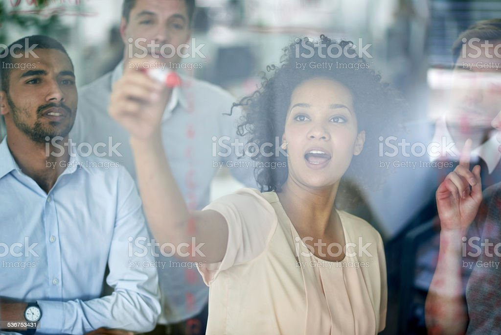Teamwork at it's best stock photo