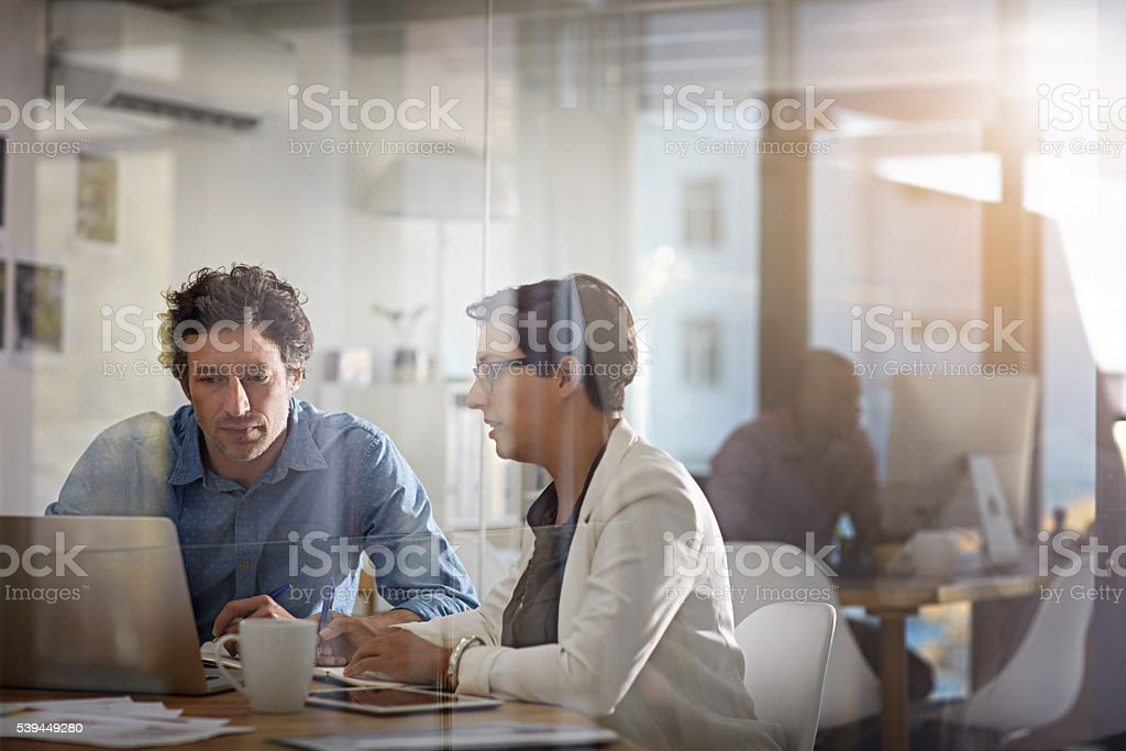 Teamwork at its best stock photo