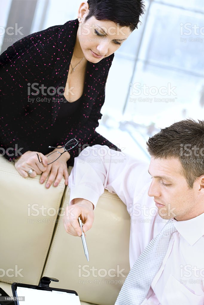 Teamwork at office royalty-free stock photo