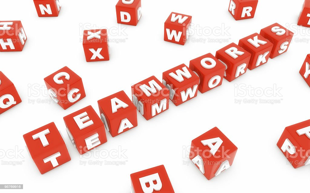 teamwork block royalty-free stock photo