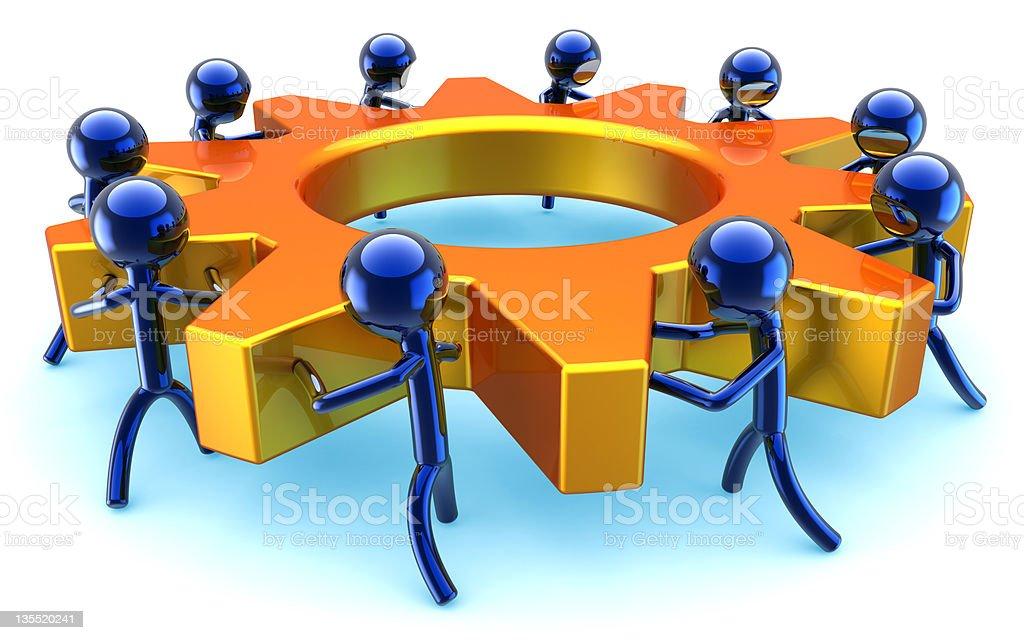 Teamwork business community efficiency concept symbol royalty-free stock photo