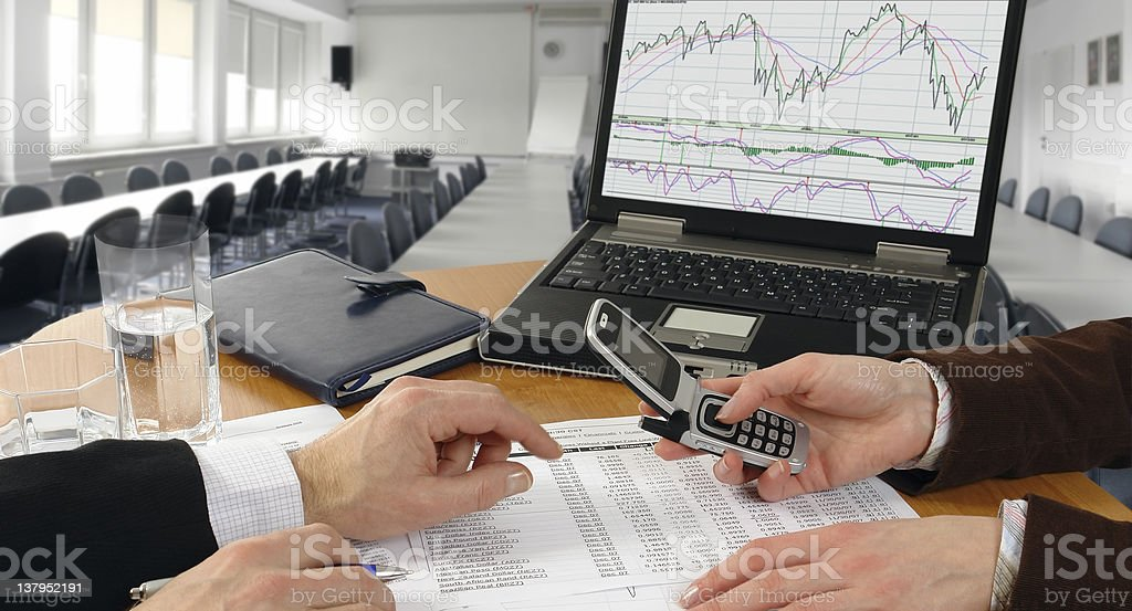 Teamwork - Business Meeting royalty-free stock photo