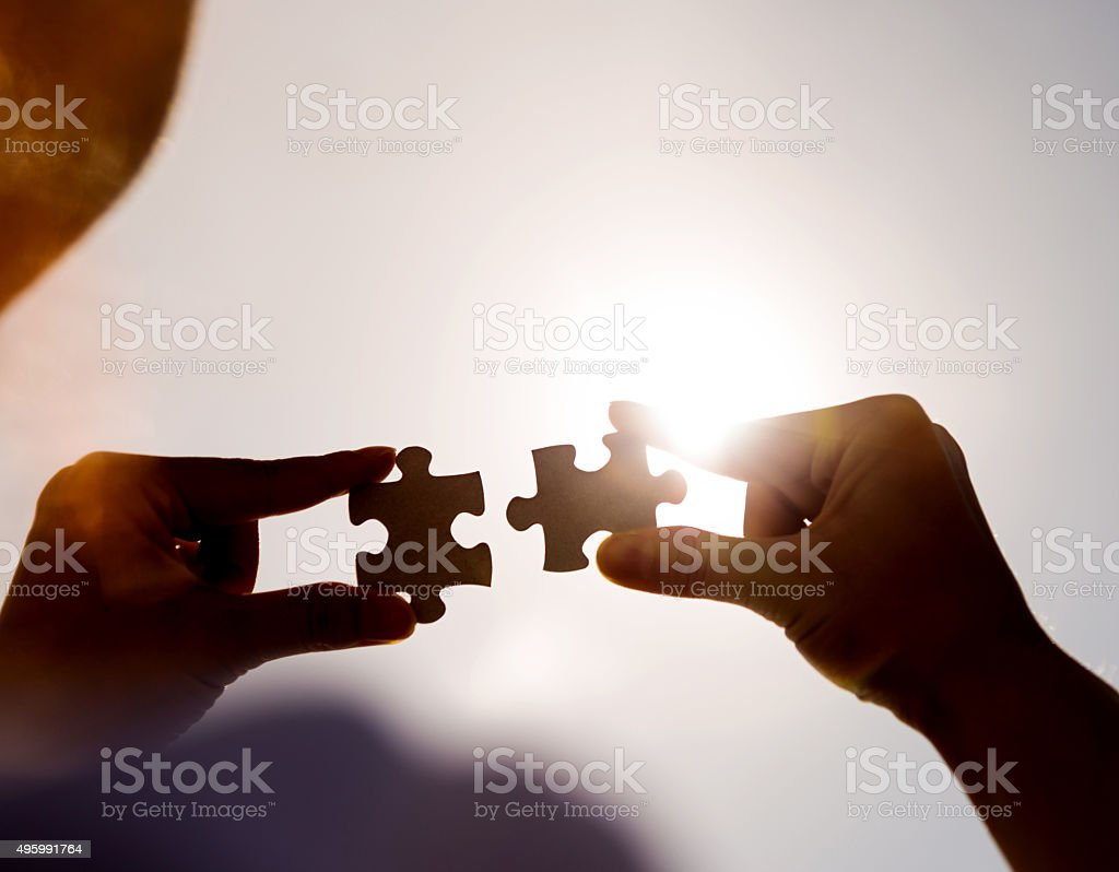Teamwork concept stock photo