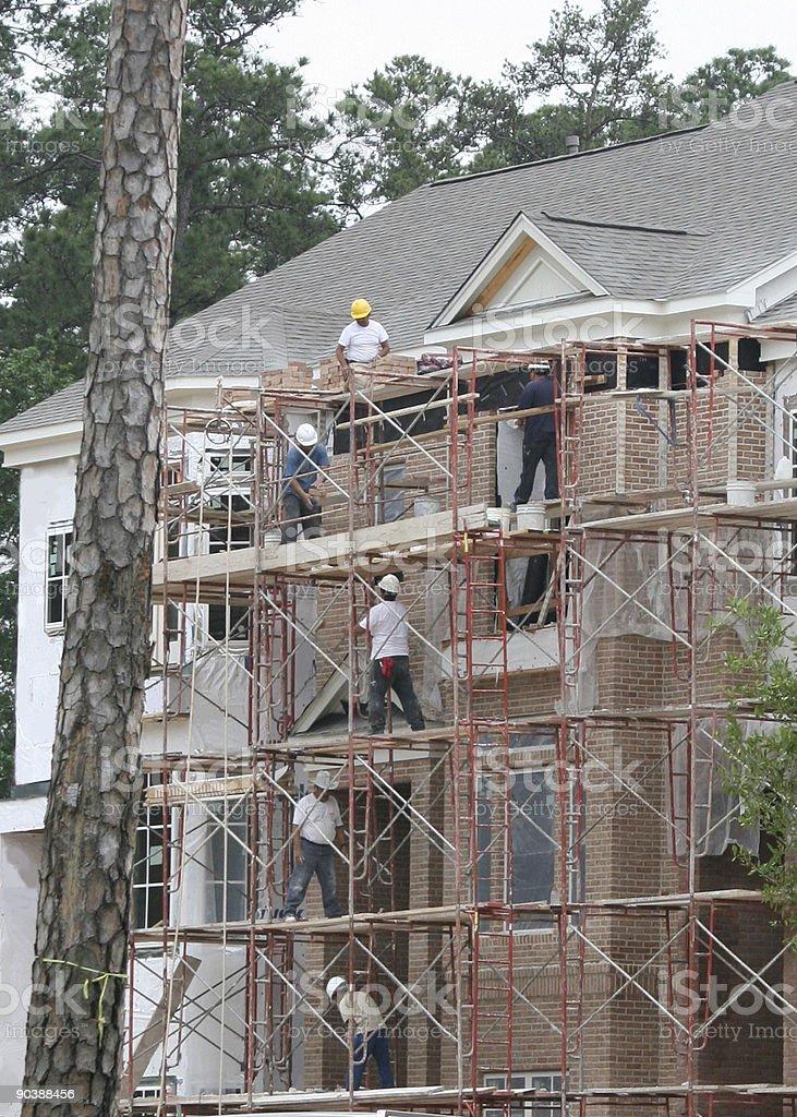 Teamwork Construction royalty-free stock photo