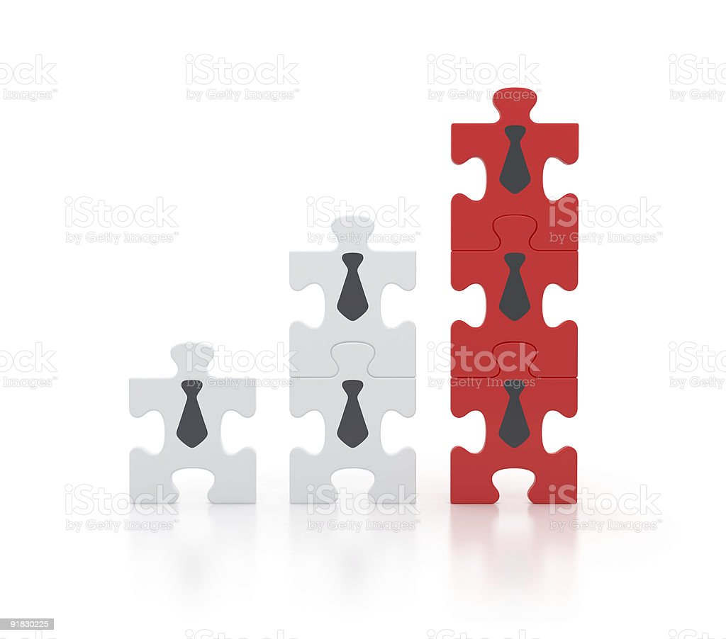 Teamwork for Success - Business Diagram royalty-free stock photo