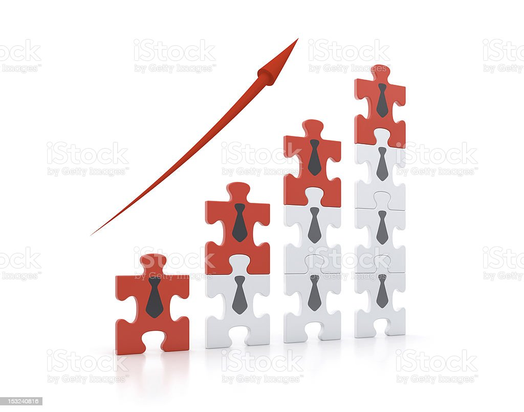 Teamwork for Success stock photo