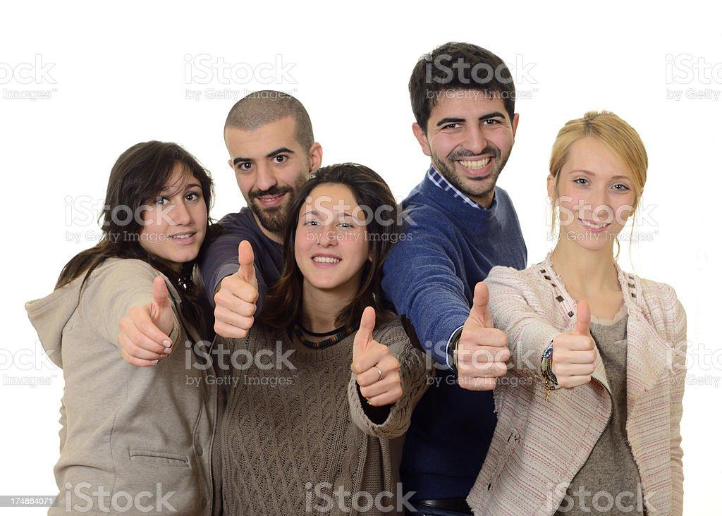 Teamwork Giving OK royalty-free stock photo