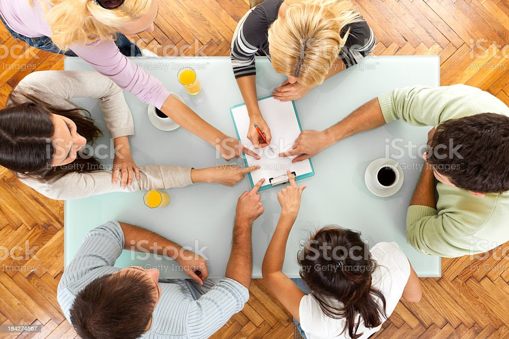 Teamwork - Group Of People On Casual Meeting stock photo