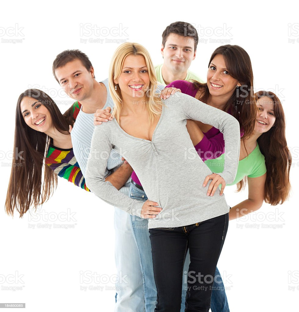 Teamwork - Group Of People On Casual Meeting royalty-free stock photo