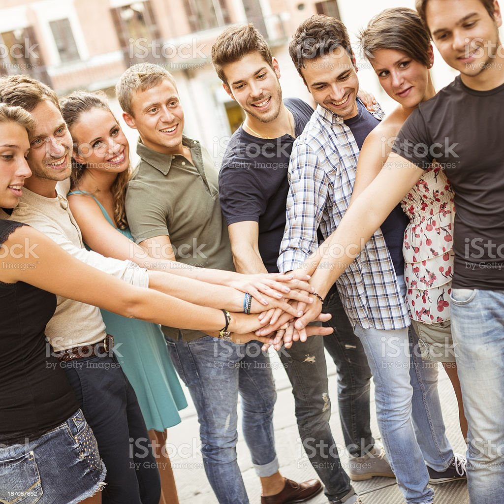 Teamwork group of people royalty-free stock photo