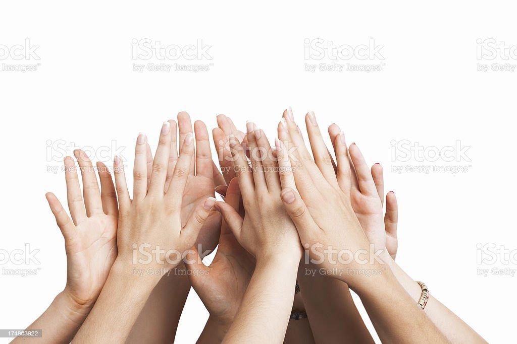 Teamwork - Human Hands royalty-free stock photo