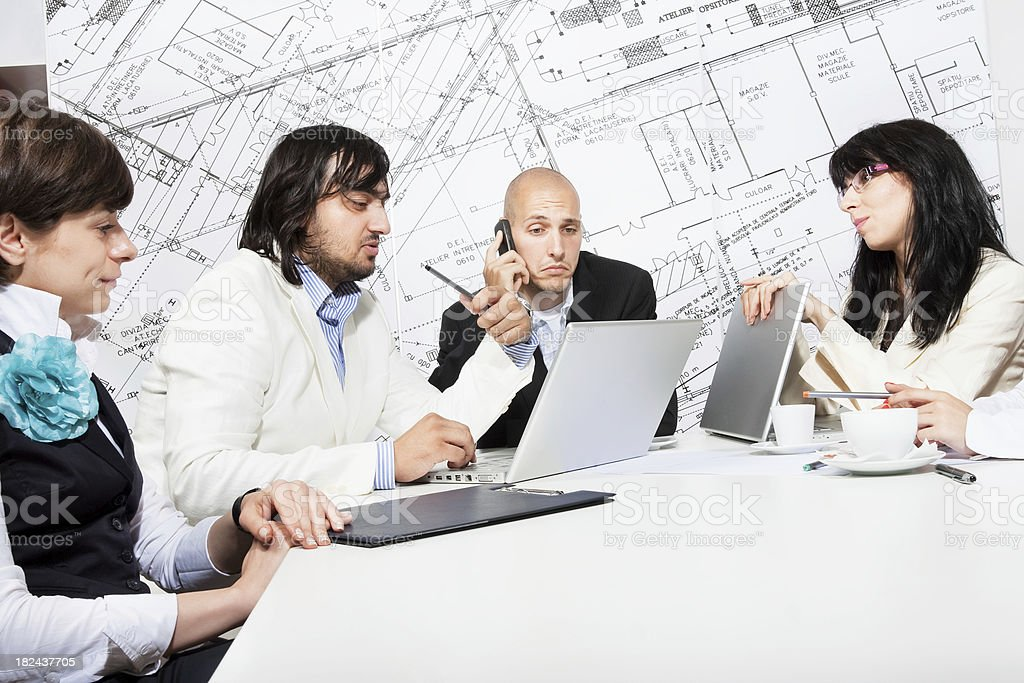 Teamwork in a business office royalty-free stock photo