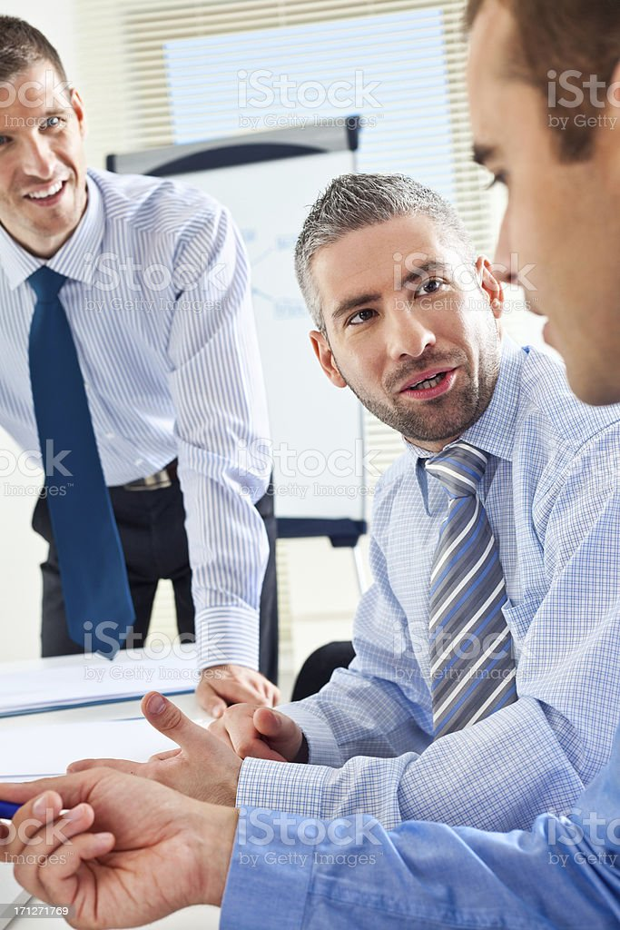 Teamwork in an office royalty-free stock photo