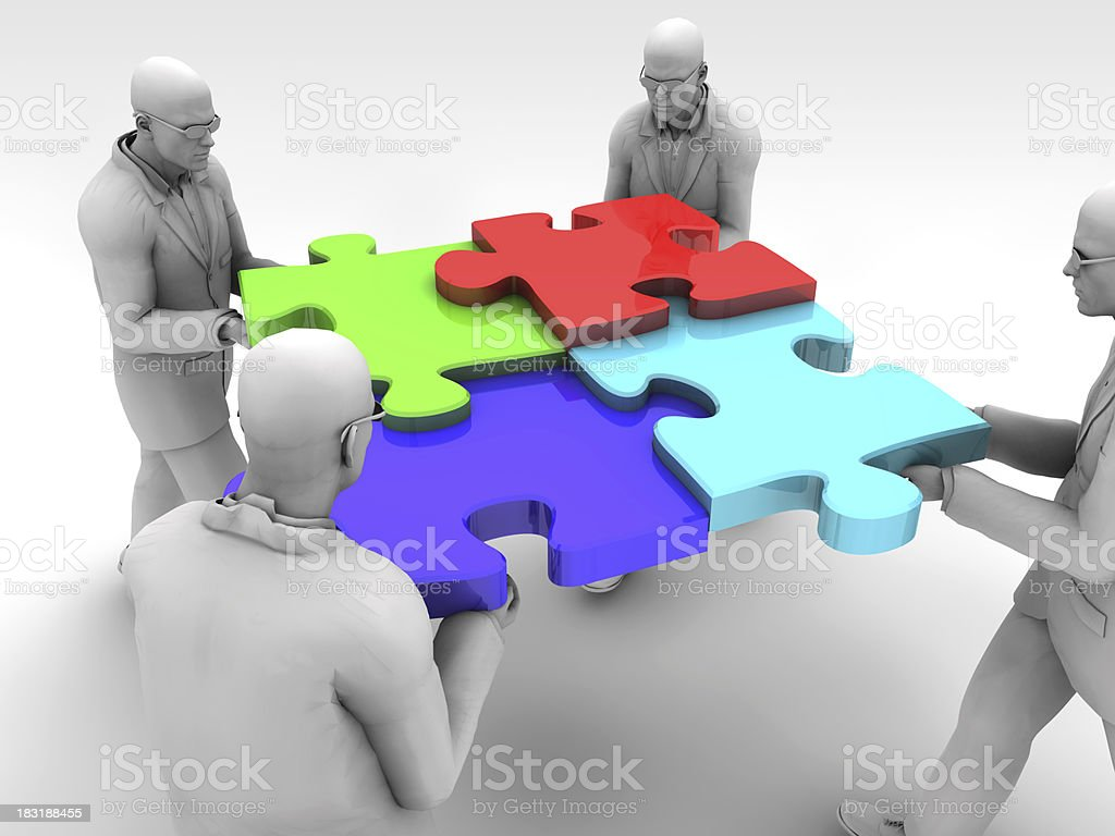 Teamwork in Company stock photo