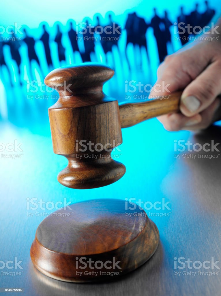 Teamwork in Law and Order stock photo