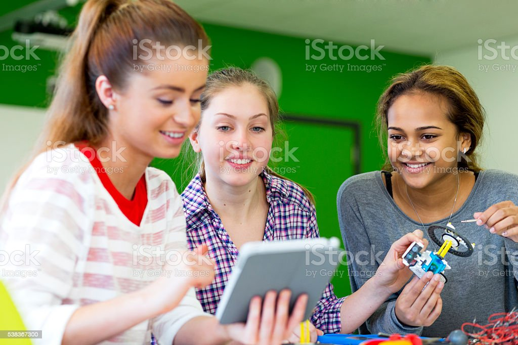Teamwork in Lessons stock photo