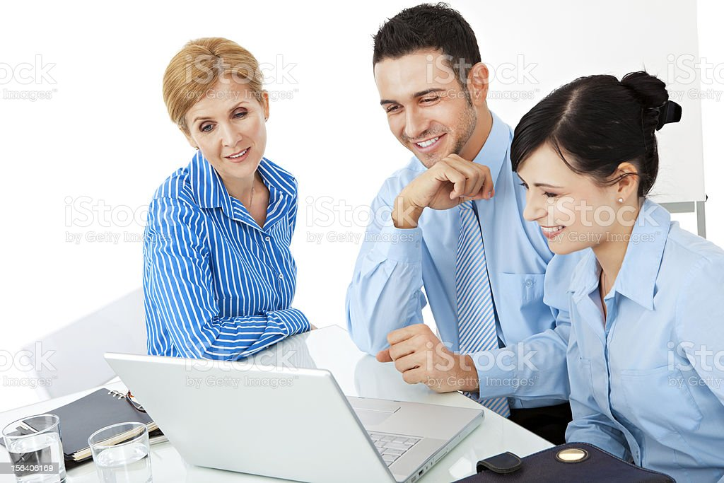 Teamwork in the office royalty-free stock photo