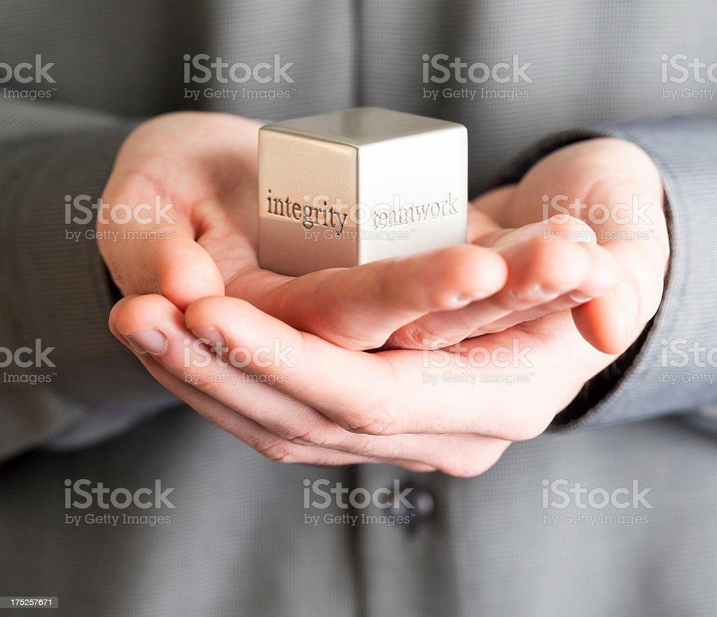 Teamwork. Integrity stock photo