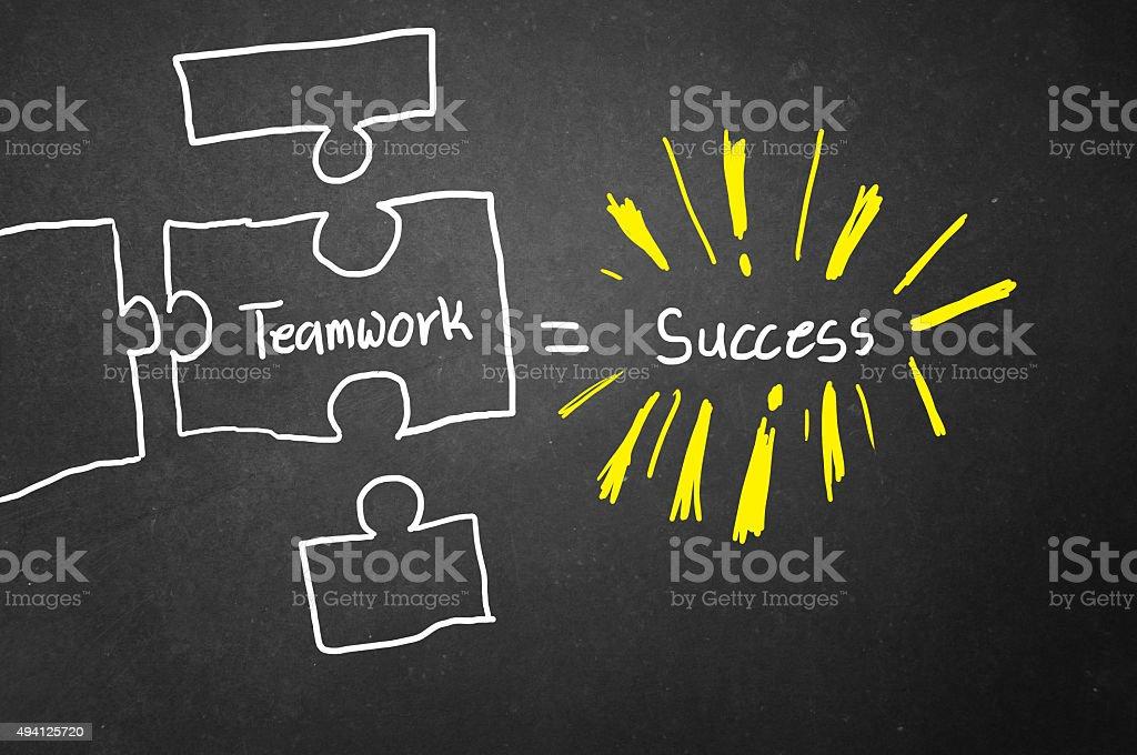 Teamwork is the key stock photo
