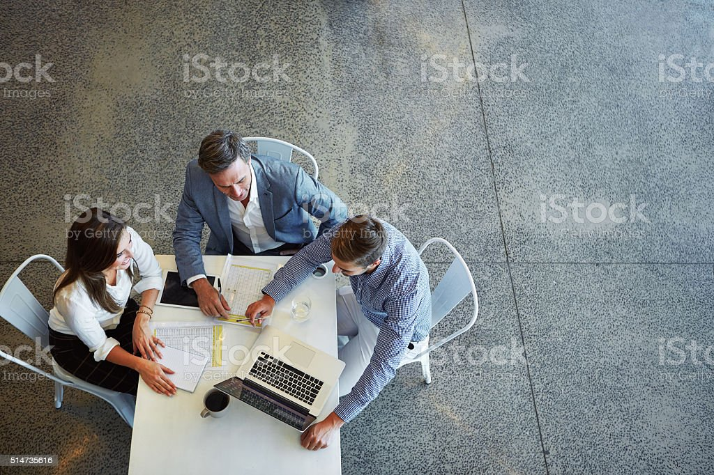 Teamwork is the way to success stock photo