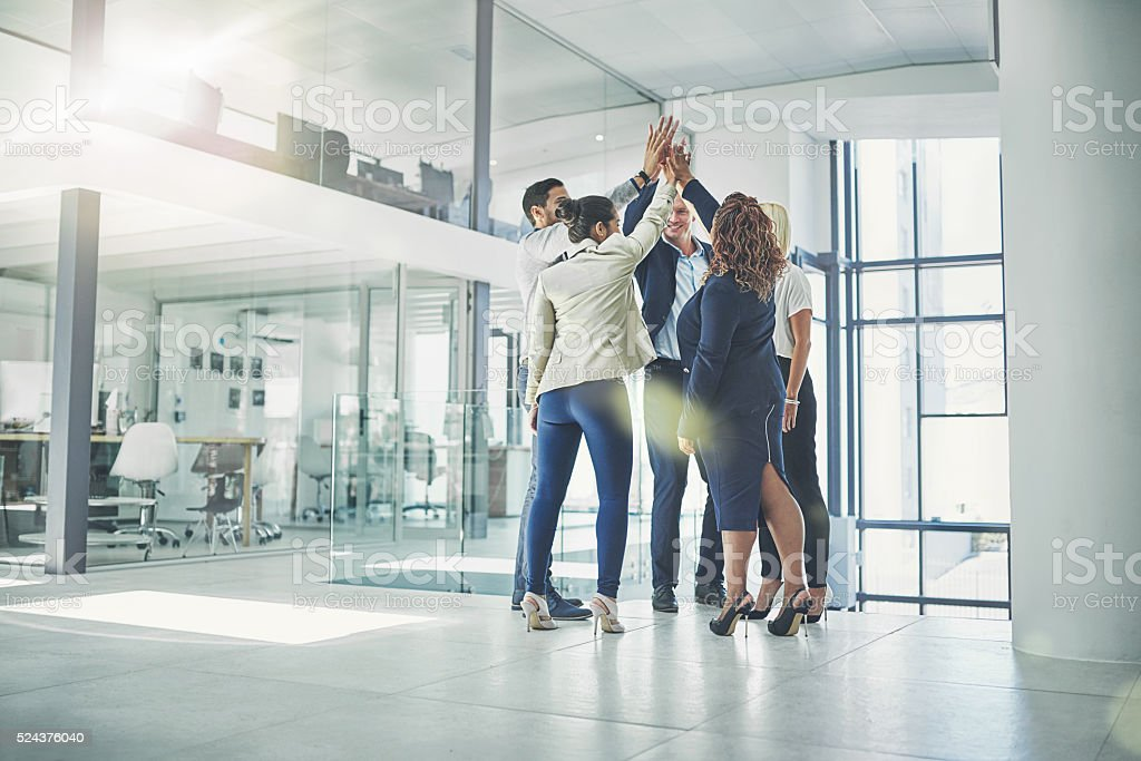 Teamwork is their number one priority stock photo