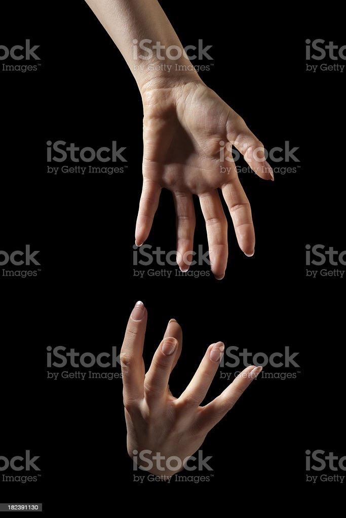 Teamwork; Lend a Helping Hand stock photo