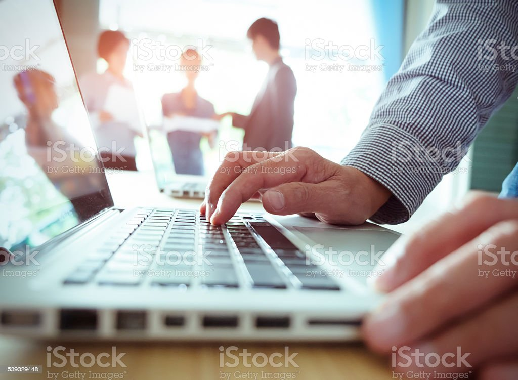 Teamwork meeting concept. stock photo