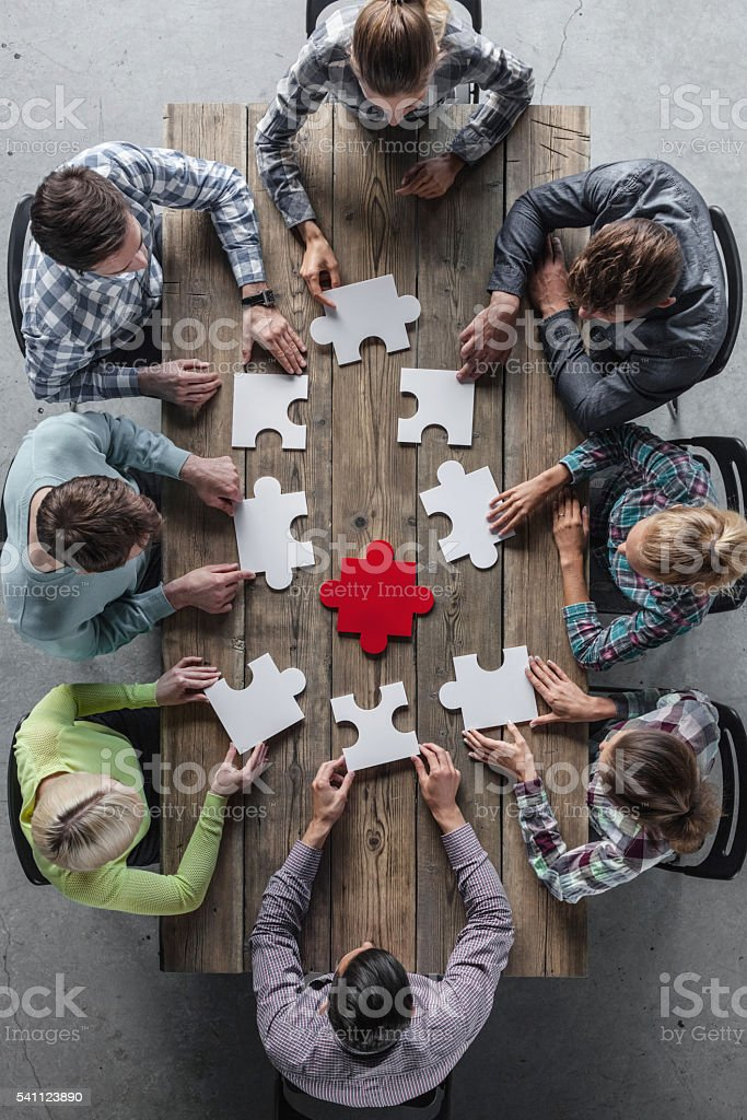 Teamwork meeting concept stock photo