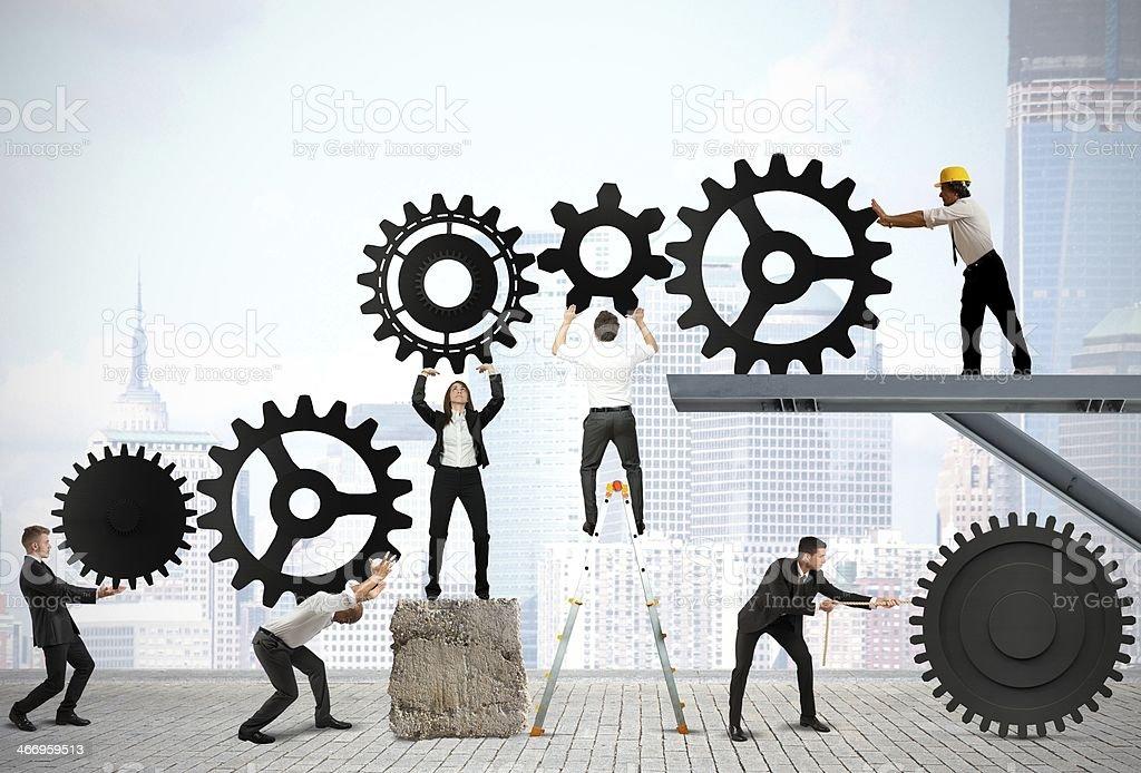 Teamwork of businesspeople stock photo