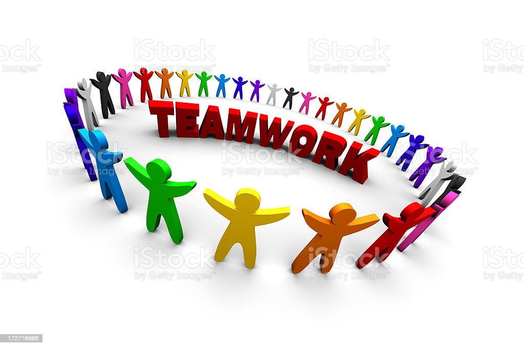 Teamwork (XXXL) royalty-free stock photo