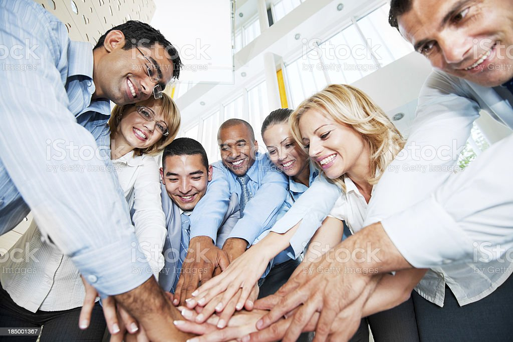 Teamwork. stock photo