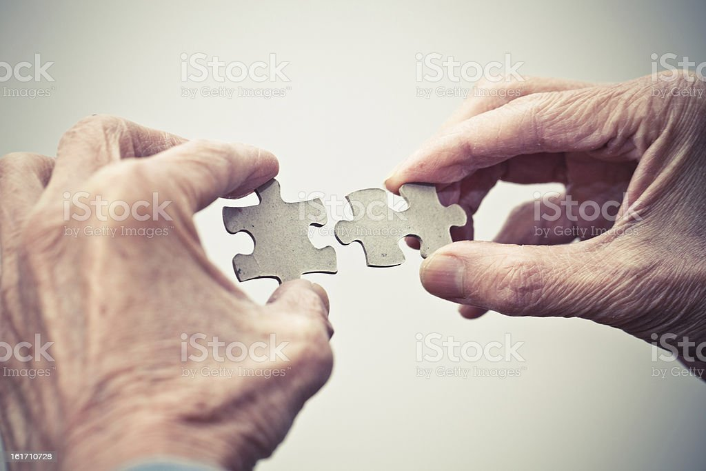 Teamwork - puzzle connection royalty-free stock photo