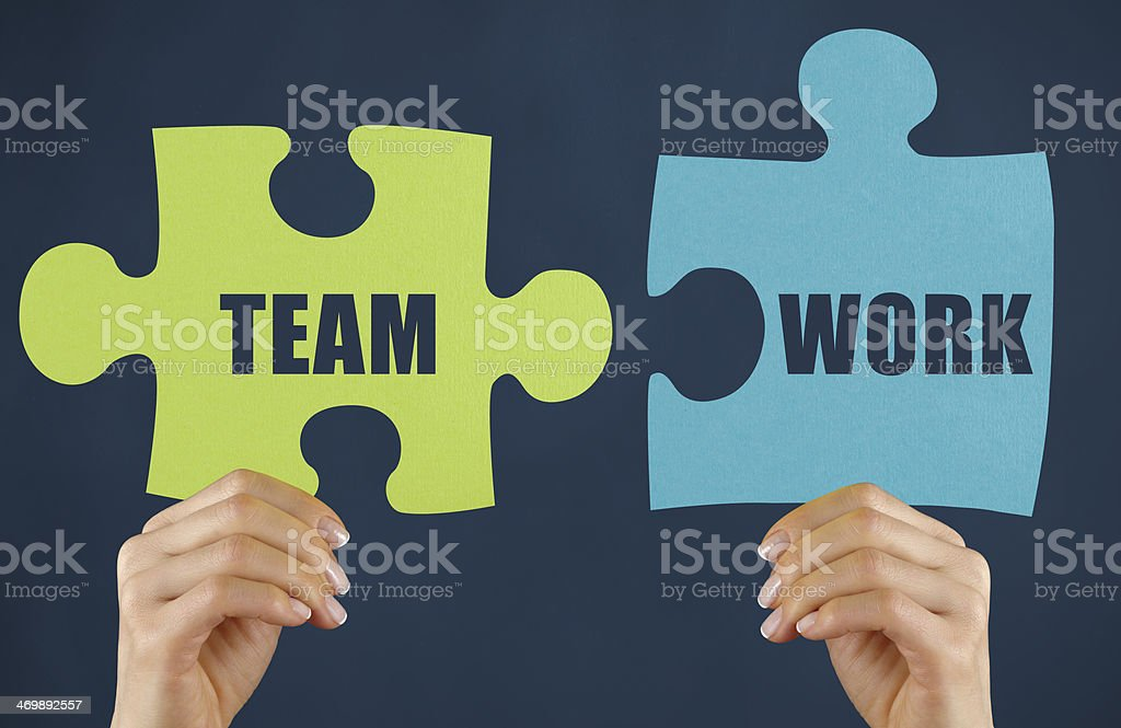 Teamwork Puzzle royalty-free stock photo