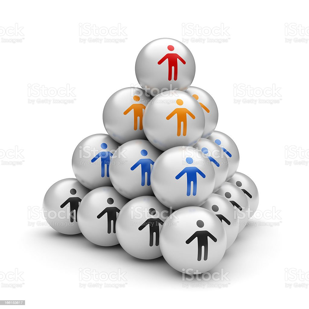 Teamwork pyramid stock photo