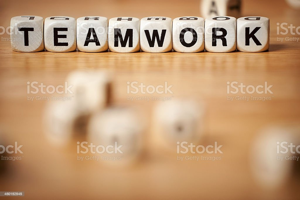 Teamwork Spelled In Letter Cubes royalty-free stock photo