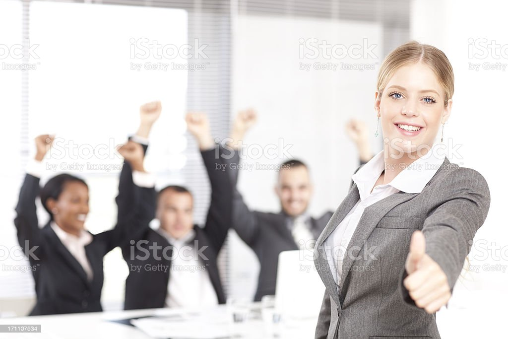 Teamwork success. royalty-free stock photo