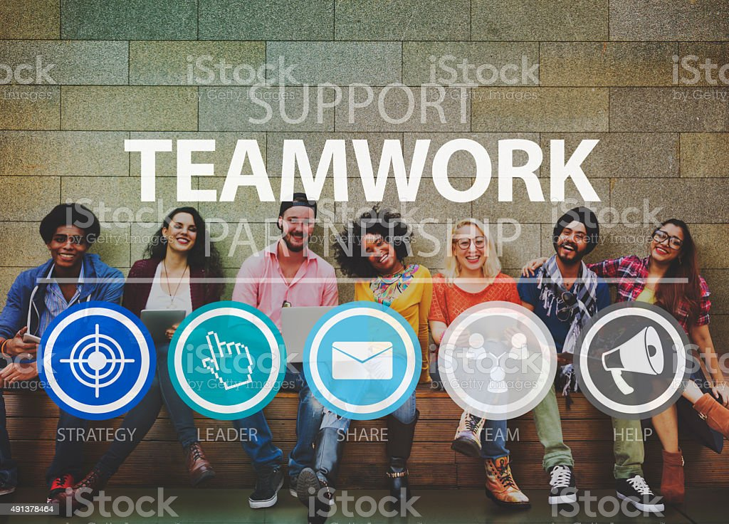 Teamwork Support Partnership Collaboration Unity Concept stock photo