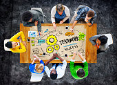 Teamwork Team Together Collaboration Group People Meeting Concep