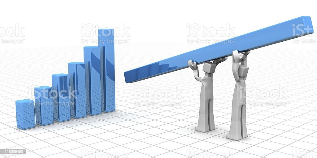 Teamwork to financial growth and success concept royalty-free stock photo