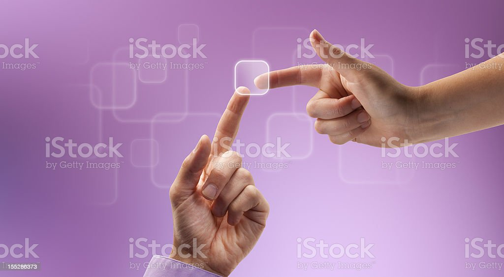 Teamwork Touch royalty-free stock photo