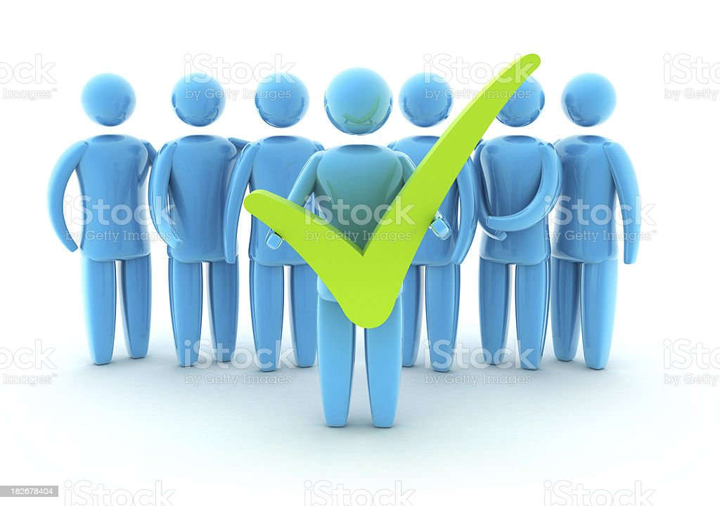 Teamwork with Check mark royalty-free stock photo