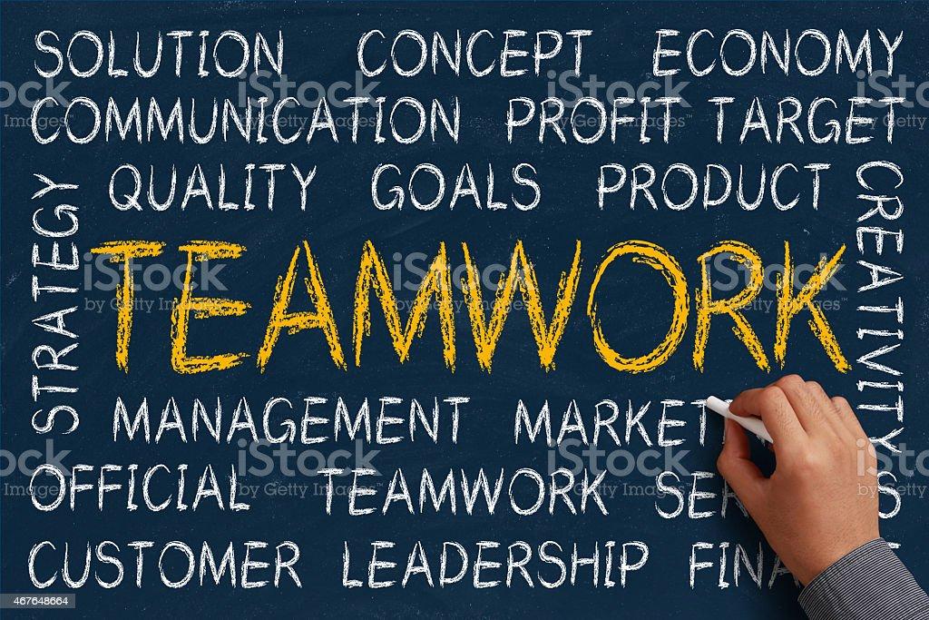 Teamwork Word Cloud stock photo