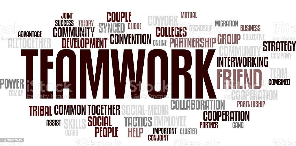teamwork wordcloud - Textwolke stock photo