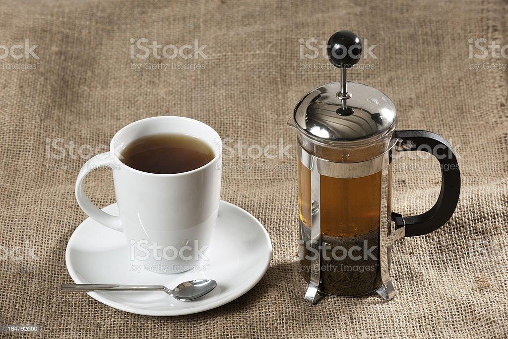 teapot brewed tea royalty-free stock photo