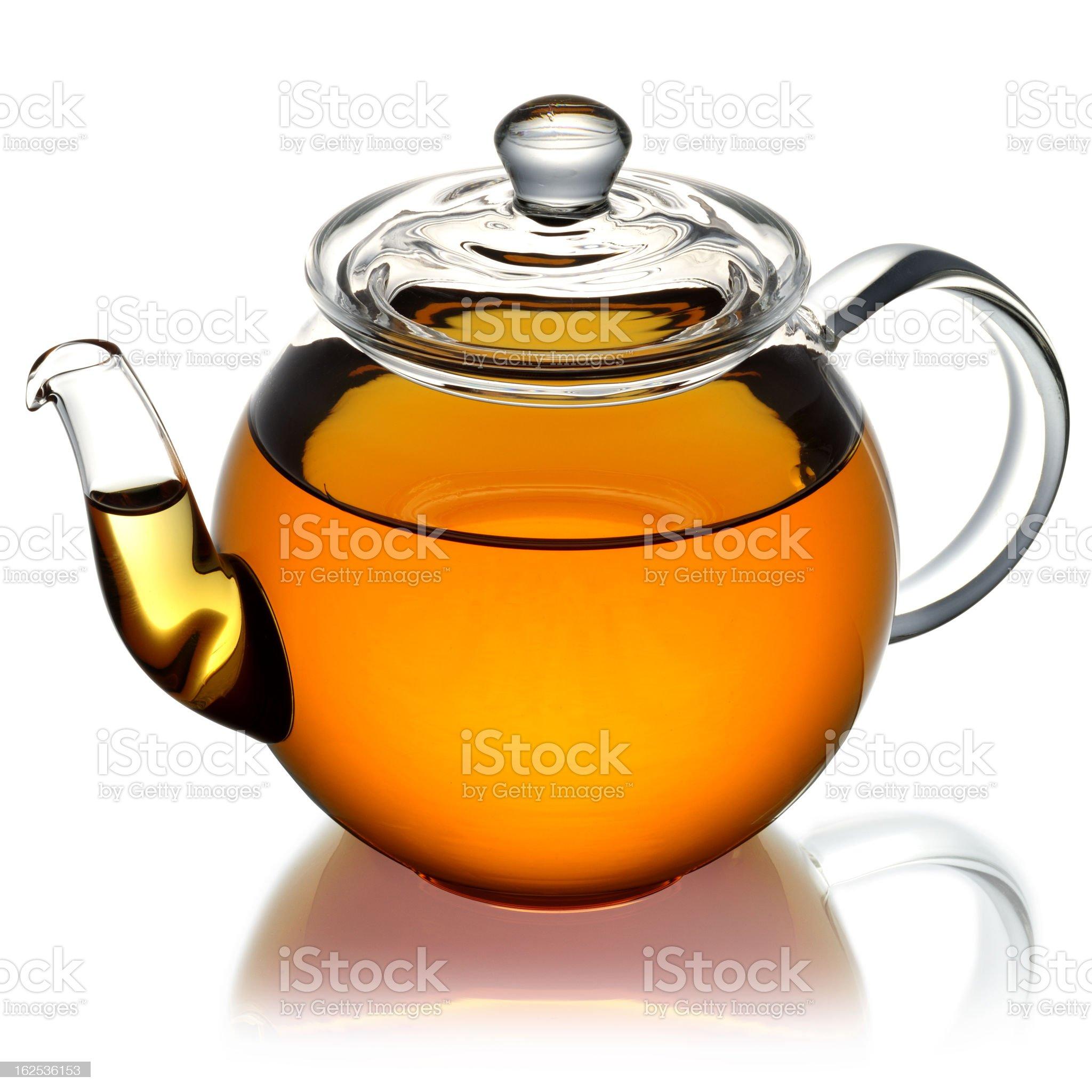 Teapot isolated royalty-free stock photo